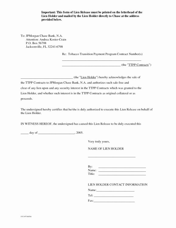 Lien Release Letter Template Fresh 100 Ideas to Try About Resume Examples