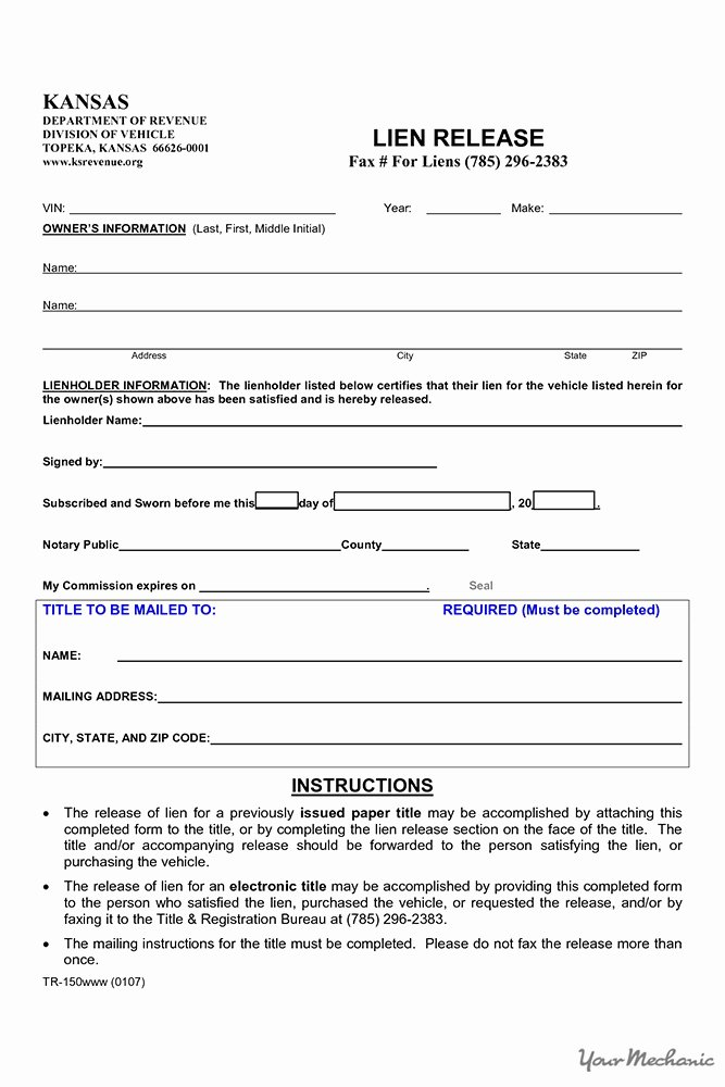 Lien Release Letter Template Fresh How to Find Out if A Car Has A Lien On It