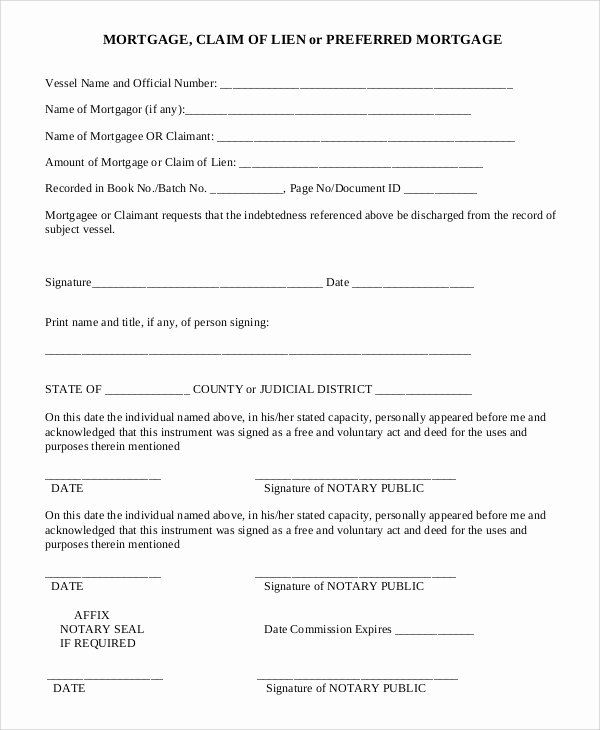 Lien Release Letter Template Lovely Sample Lien Release form 9 Examples In Pdf Word