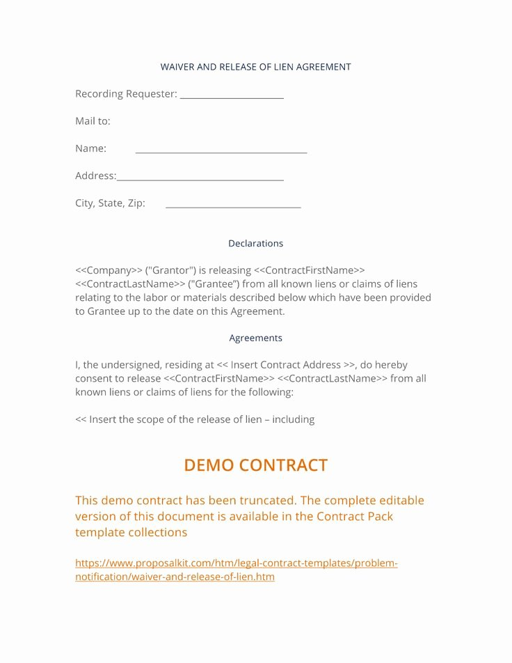 Lien Release Letter Template Luxury 29 Best Notification Of Problem Documents Images On