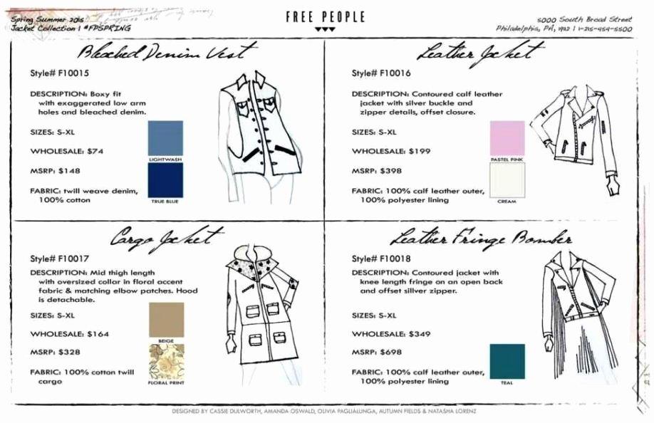 Line Sheet Template Excel Fresh Fashion Line Sheet Template Sampletemplatess