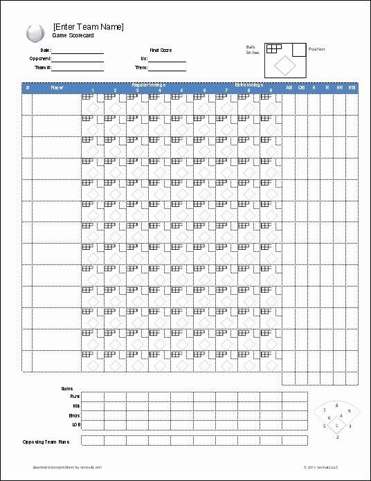 Line Sheet Template Excel Inspirational Download A Free Baseball Roster Template for Excel