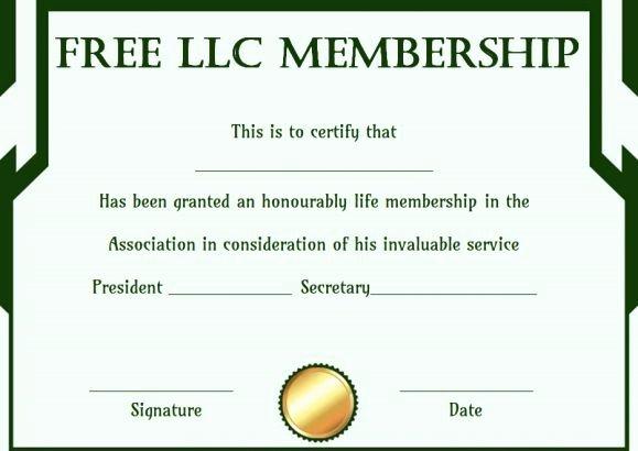 Llc Membership Certificate Template Fresh Free Llc Membership Certificate Template
