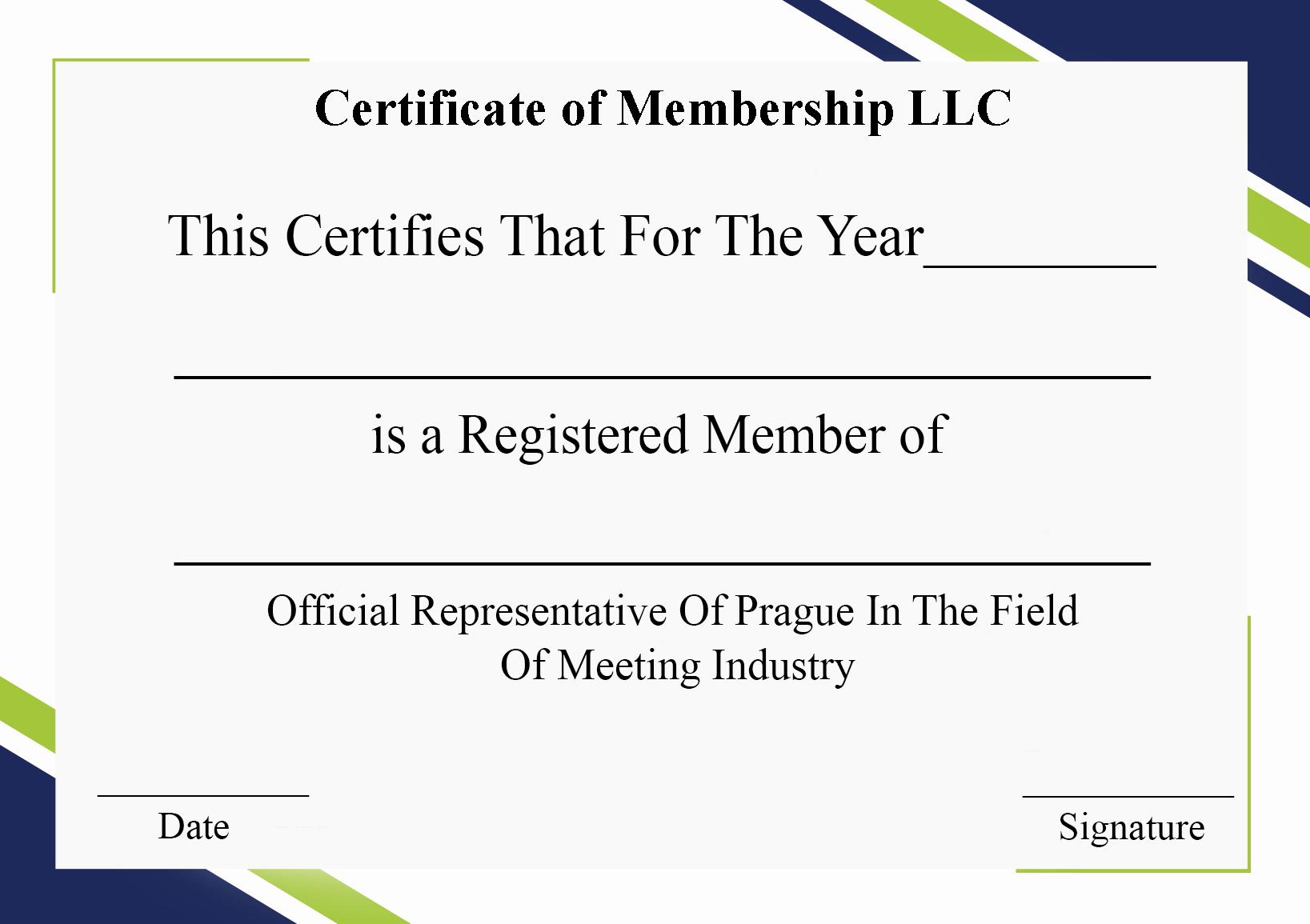 Llc Membership Certificate Template Inspirational 5 Free Printable Certificate Membership Template