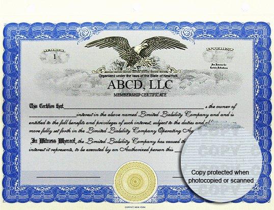 Llc Membership Certificate Template Inspirational Stock Certificates Custom Stock Certificates Limited