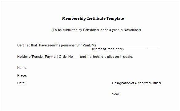 Llc Membership Certificate Template Lovely 23 Membership Certificate Templates Word Psd In