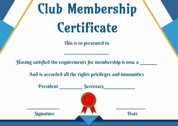 Llc Membership Certificate Template Luxury Free Club Membership Certificate Templates