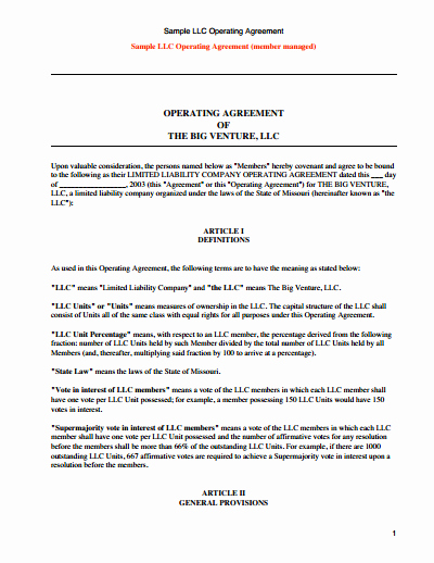Llc Operating Agreement Template Pdf Best Of Llc Operating Agreement Template Free Download Create