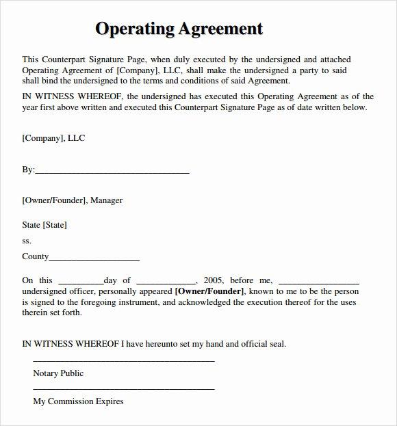 Llc Operating Agreement Template Pdf Elegant Free 10 Sample Llc Operating Agreement Templates In
