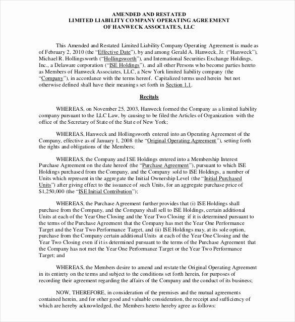 Llc Operating Agreement Template Pdf Elegant Operating Agreement Template 12 Free Word Pdf Document