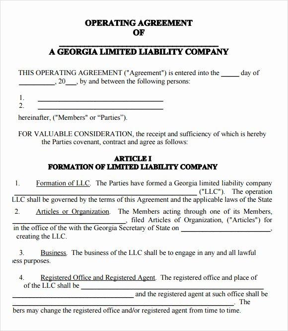 Llc Operating Agreement Template Pdf Fresh Free 10 Sample Llc Operating Agreement Templates In