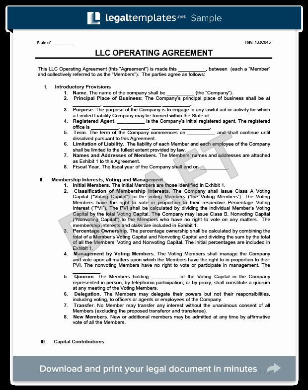 Llc Operating Agreement Template Pdf Inspirational Llc Operating Agreement Template