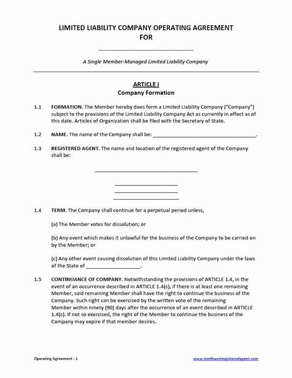 Llc Operating Agreement Template Pdf Luxury Llc Operating Agreement Template