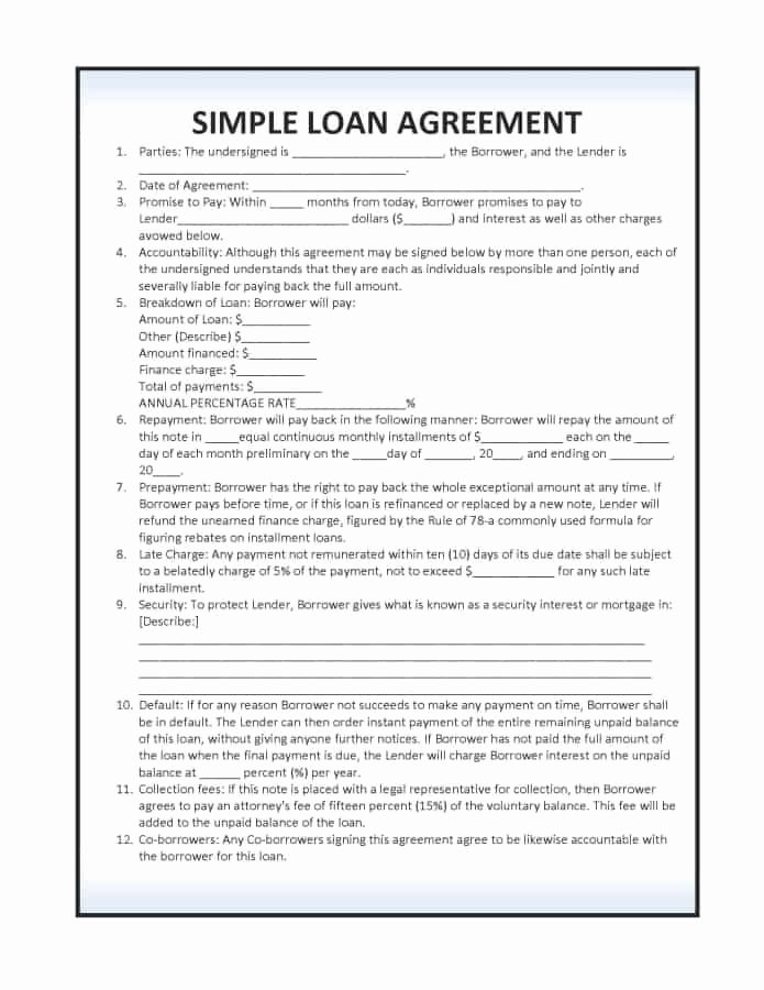 Loan Contract Template Word Lovely 14 Loan Agreement Templates Excel Pdf formats