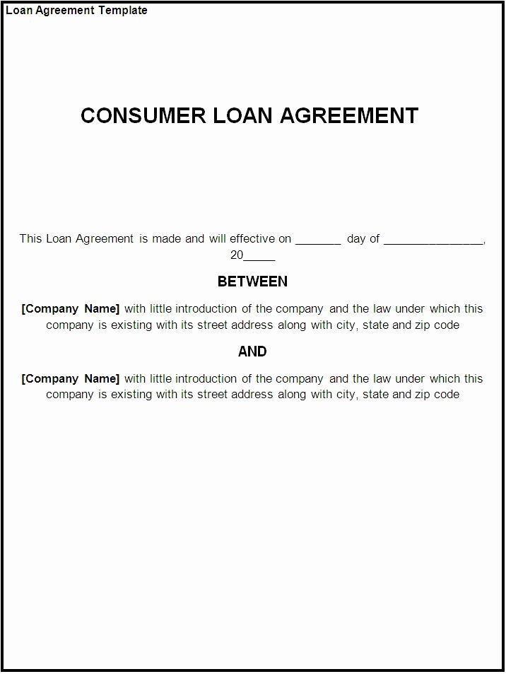 Loan Contract Template Word Luxury Loan Agreement Template