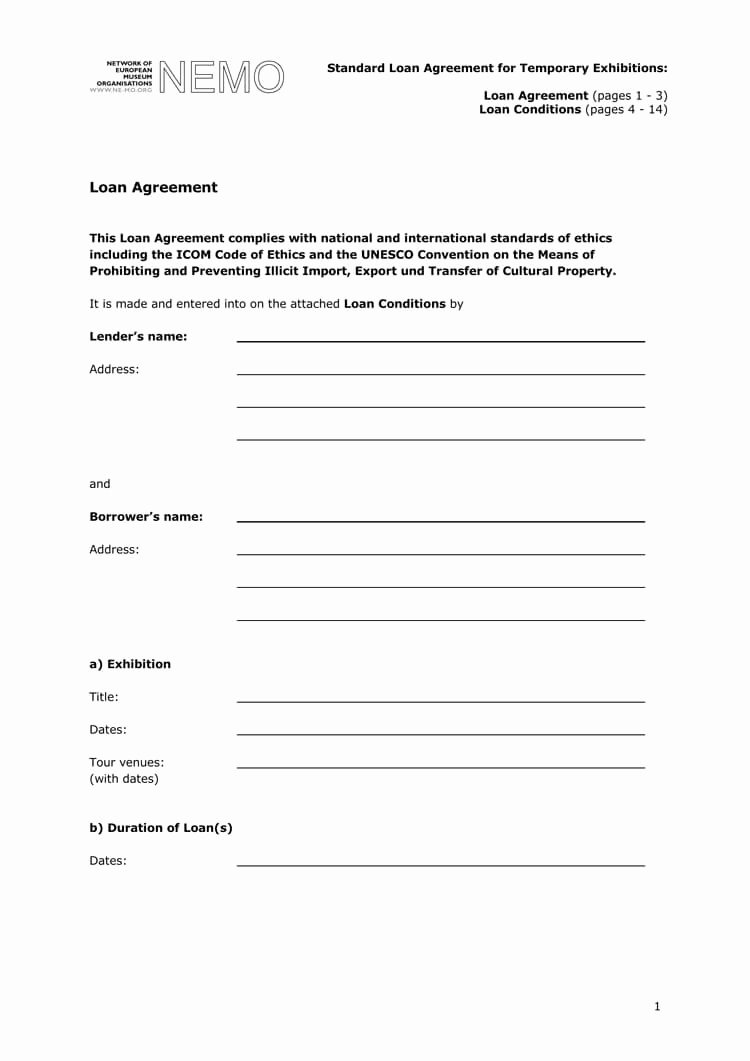 Loan Contract Template Word New 38 Free Loan Agreement Templates & forms Word Pdf