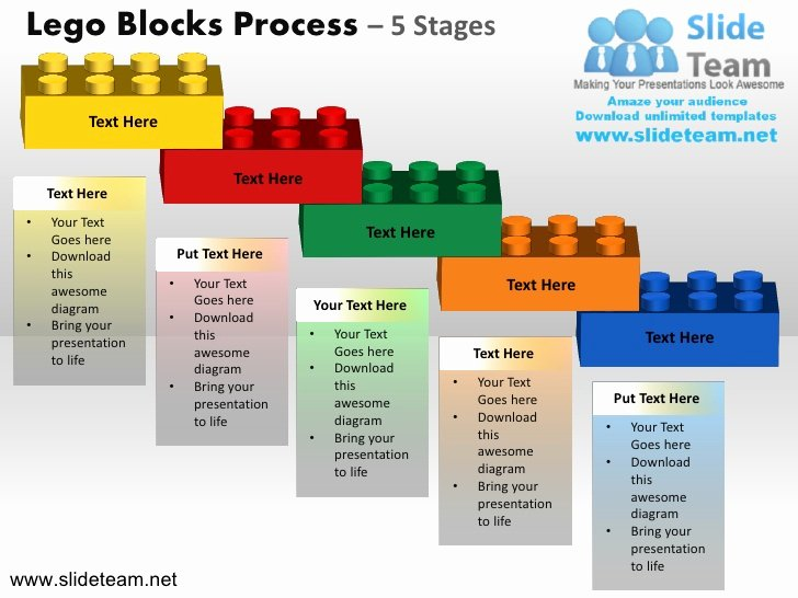 Logic Model Template Powerpoint Awesome Lego Cubes Building Blocks Stacked Building Blocks Logical