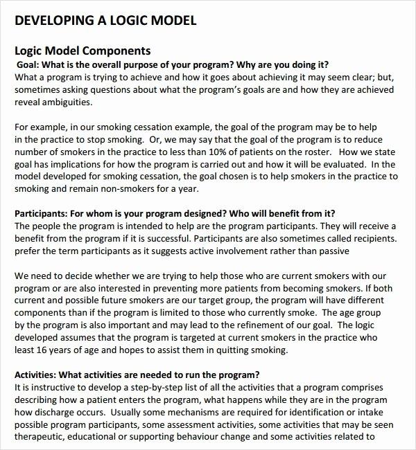 Logic Model Template Powerpoint Beautiful Free 11 Sample Logic Models In Pdf