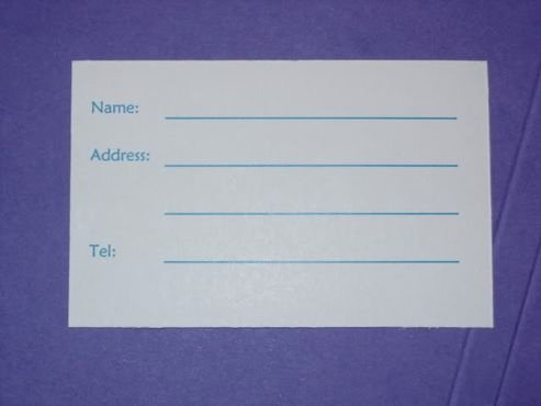 Luggage Tag Insert Template Beautiful Done 50 Diy Luggage Tags = $30 Diy forum Passport