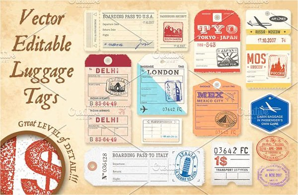 Luggage Tag Insert Template Best Of 10 Luggage Tag Templates