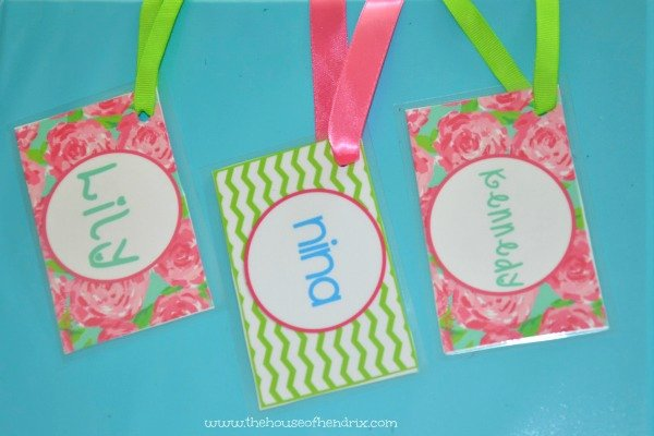 Luggage Tag Insert Template Fresh Diy Personalized Bag Tags and Printables for Lunch Box and