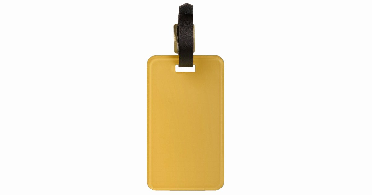 Luggage Tag Insert Template New Gold Blank Template Add Text Image Fill Color Luggage