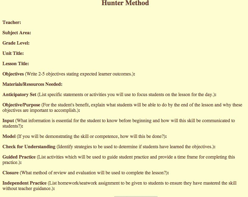 Madeline Hunter Lesson Plan Template Best Of 1000 Images About Instructional System Design On