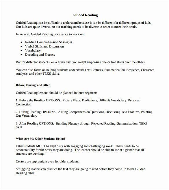 Madeline Hunter Lesson Plan Template Elegant Guided Reading Lesson Plan Template