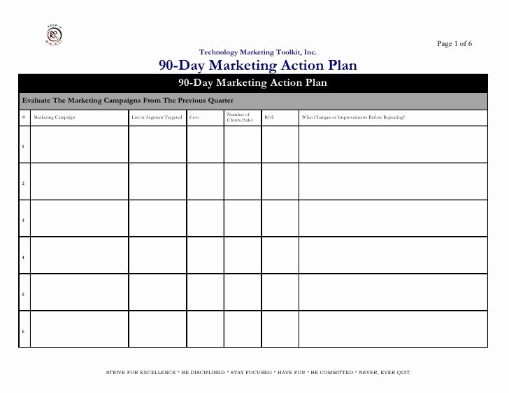 Marketing Action Plan Template Best Of Marketing Action Plan