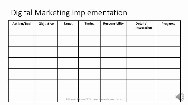 Marketing Action Plan Template Elegant Digital Marketing Plan Template 10 2015
