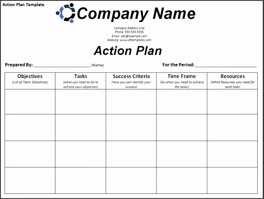 Marketing Action Plan Template Fresh 6 General Action Plan Template Sampletemplatess