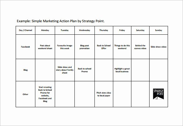 Marketing Action Plan Template Lovely Simple Action Plan Template 21 Free Sample Example
