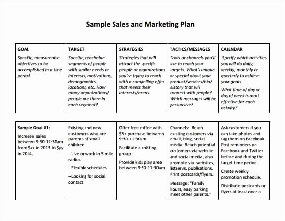 Marketing Action Plan Template New Free Sales Plan Templates Free Printables Word Excel