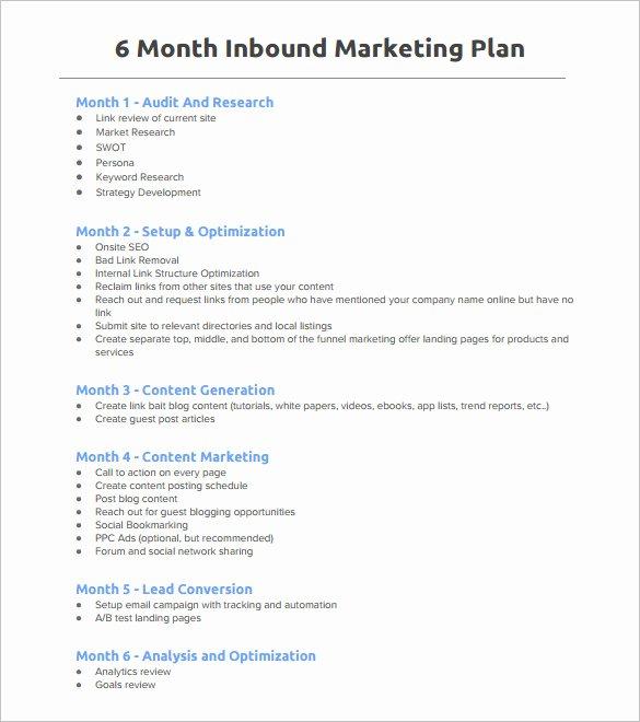 Marketing Plan Outline Template Beautiful 7 Marketing Plan Outline Templates Doc Pdf Excel