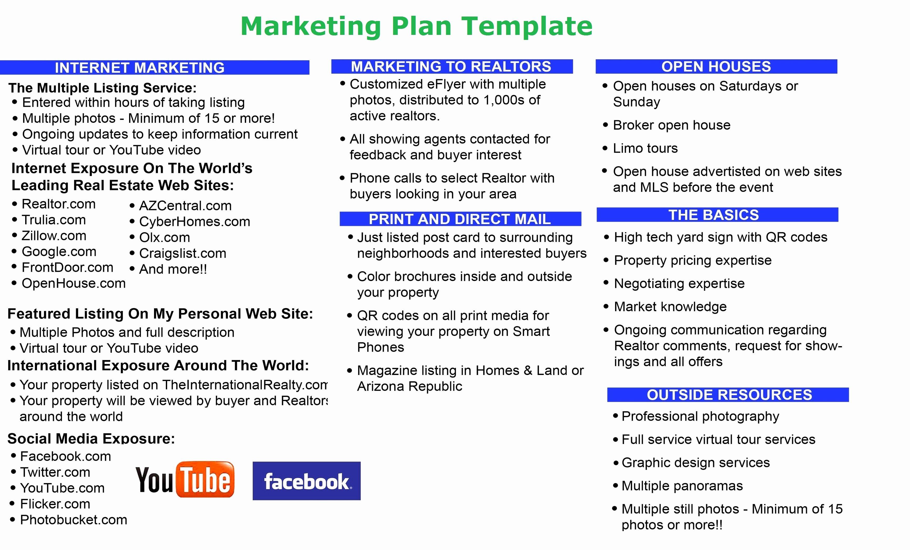 Marketing Plan Outline Template Best Of Marketing Plan