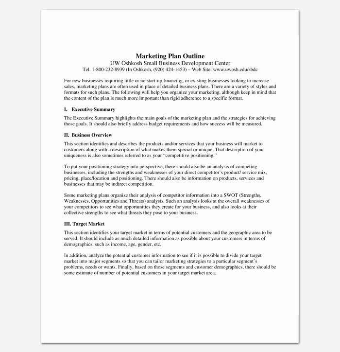 Marketing Plan Outline Template Best Of Marketing Plan Outline Template 16 Examples for Word