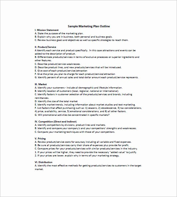 Marketing Plan Outline Template Inspirational 22 Simple Marketing Plan Templates Doc Pdf