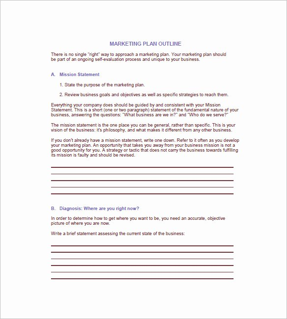 Marketing Plan Outline Template Lovely 8 Annual Marketing Plan Templates Docs Pdf