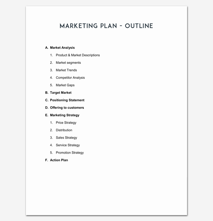 Marketing Plan Outline Template New Marketing Plan Outline Template 16 Examples for Word