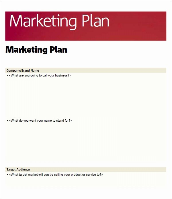 Marketing Plan Outline Template New Sample Marketing Plan Template 19 Free Documents In