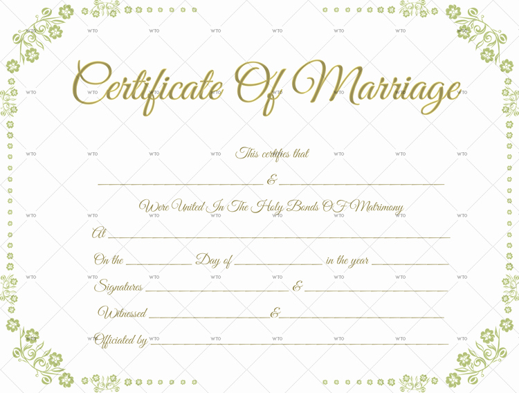 Marriage Certificate Template Microsoft Word Awesome 60 Marriage Certificate Templates for Microsoft Word