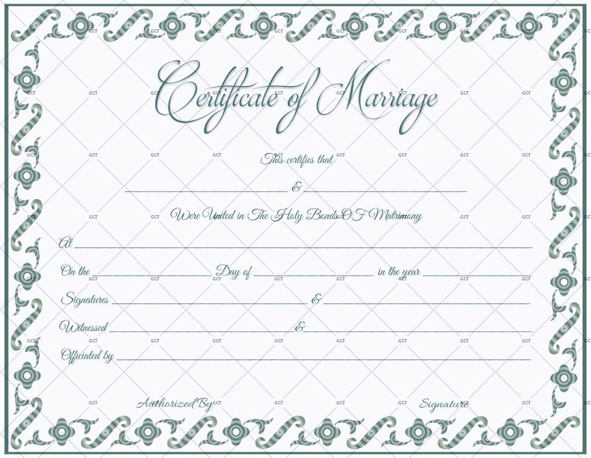 Marriage Certificate Template Microsoft Word Best Of Marriage Certificate Template 22 Editable for Word