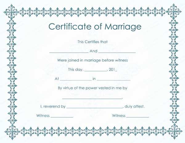 Marriage Certificate Template Microsoft Word Best Of Sample Marriage Certificate Models
