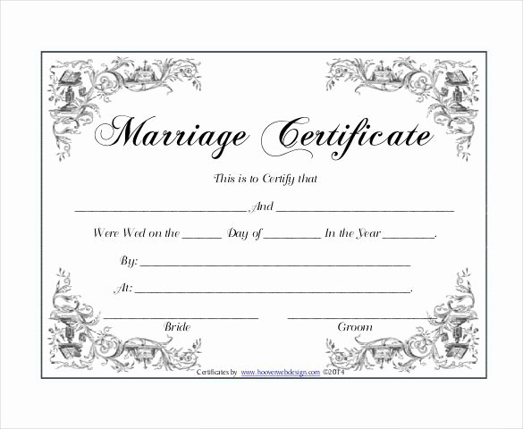 Marriage Certificate Template Microsoft Word Fresh 10 Marriage Certificate Templates