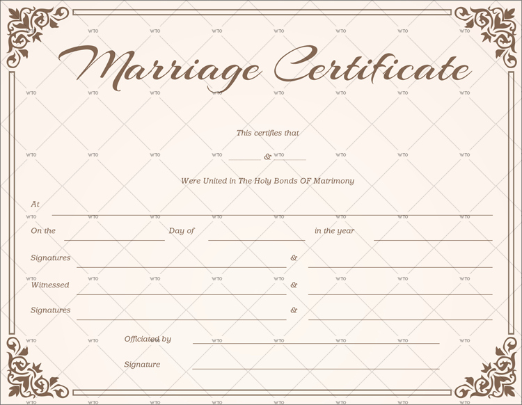 Marriage Certificate Template Microsoft Word Lovely 60 Marriage Certificate Templates for Microsoft Word