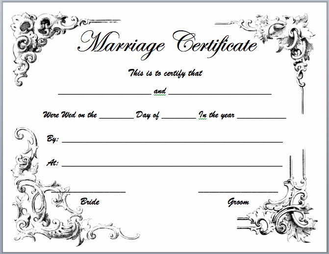 Marriage Certificate Template Microsoft Word Luxury Marriage Certificate Template Microsoft Word Templates