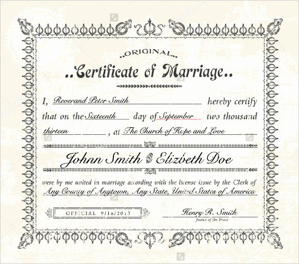 Marriage Certificate Template Microsoft Word New Marriage Certificate Template Microsoft Word