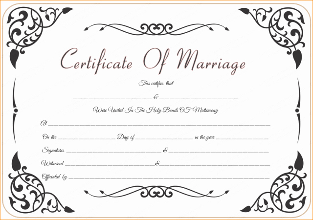 Marriage Certificate Template Microsoft Word Unique Marriage Certificate Template Microsoft Word Free