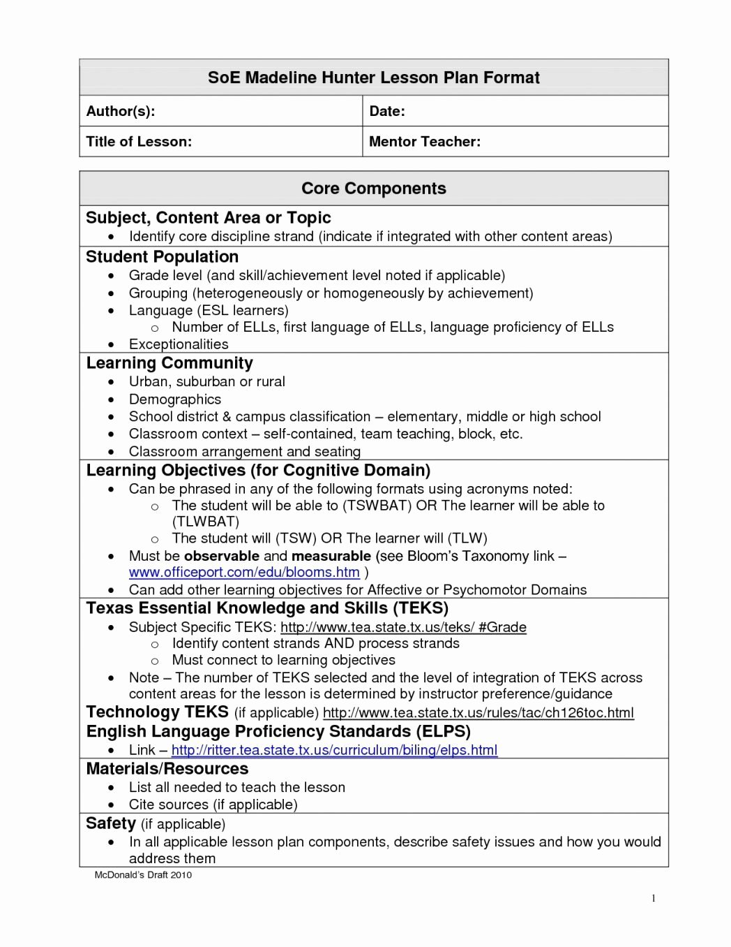Math Lesson Plan Template Awesome Edtpa Math Lesson Plan Template – Best Lesson Plan