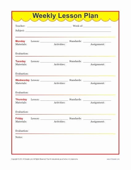 Math Lesson Plan Template Fresh Weekly Detailed Lesson Plan Template Elementary